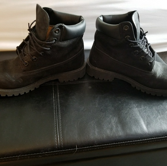 Svart Timberland Støvler 6.5y S7XLO
